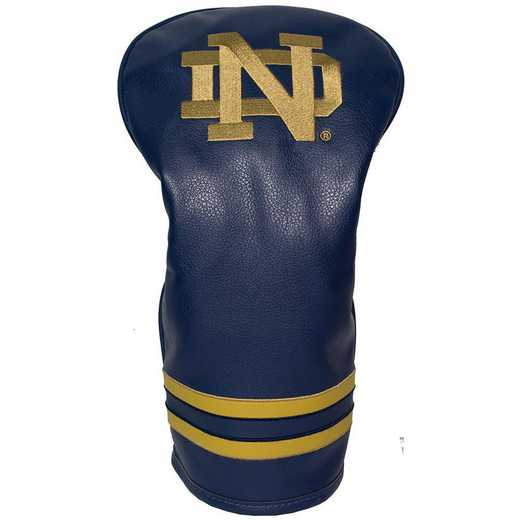 22711: Vintage Driver Head Cover Notre Dame Fighting Irish